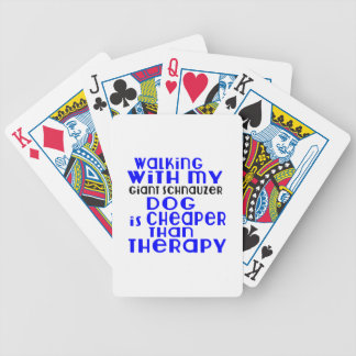 Marche avec mes conceptions de chien de Schnauzer Jeu De Poker