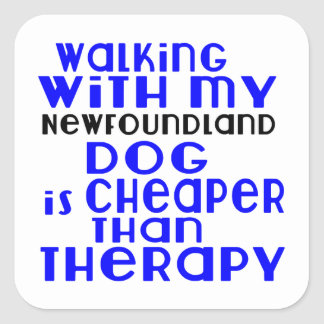 Marche avec mes conceptions de chien de sticker carré
