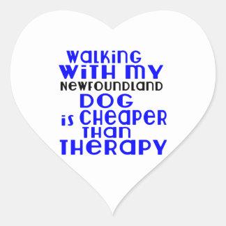 Marche avec mes conceptions de chien de sticker cœur