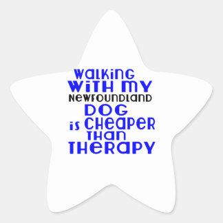 Marche avec mes conceptions de chien de sticker étoile