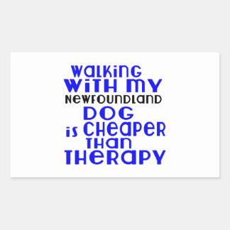 Marche avec mes conceptions de chien de sticker rectangulaire