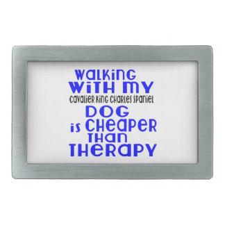 Marche avec mon chien cavalier d'épagneul du Roi Boucle De Ceinture Rectangulaire