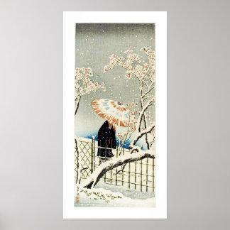 Marche dans la neige Ukiyo-e Posters