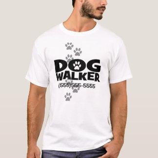 Marche de chien et promotion de marcheur de chien t-shirt