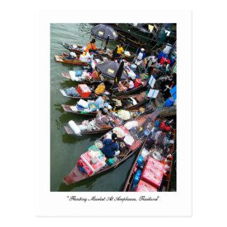 Marché de flottement chez Amphawa, Thaïlande Cartes Postales