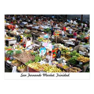 Marché de San Fernando, carte postale du Trinidad