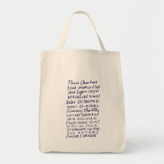 Marché français fourre-tout d'endroits dans le sac en toile épicerie