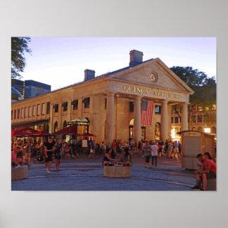 Marché historique Boston du centre de Quincy Posters