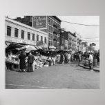 Marché italien de chariot, Bronx : 1940 Affiche