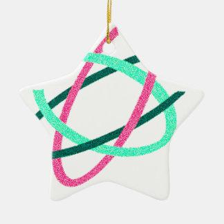 marche pour le logo de la science ornement étoile en céramique