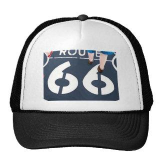 Marche sur l'itinéraire 66 casquettes de camionneur