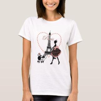Marche vintage romantique mignonne de silhouette t-shirt