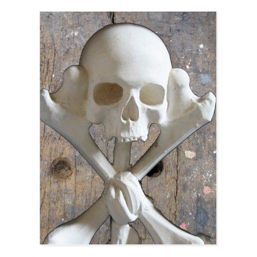Marchent la carte postale de crâne de planche et d