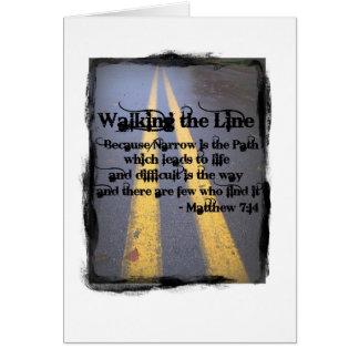 Marchent la ligne carte de vœux