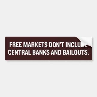 Marchés, banques centrales, et adhésif pour autocollant pour voiture