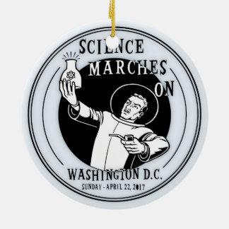 Marches de la Science dessus Ornement Rond En Céramique
