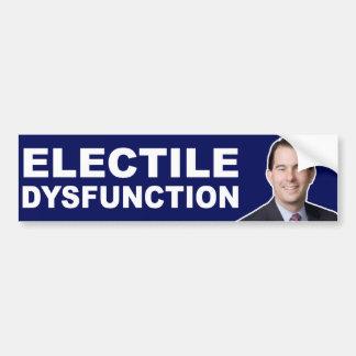 Marcheur de Scott : Dysfonctionnement d'Electile Autocollant De Voiture