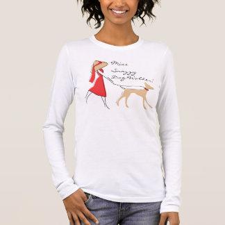 Marcheur élégant de chien t-shirt à manches longues