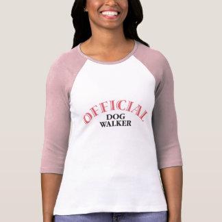 Marcheur officiel de chien - rose t-shirt
