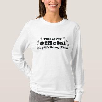 Marcheur officiel de chien t-shirt