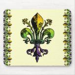 Mardi gras antique Fleur Tapis De Souris