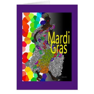 Mardi gras ! carte de vœux