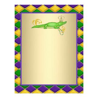 Mardi gras d'alligator prospectus 21,6 cm x 24,94 cm