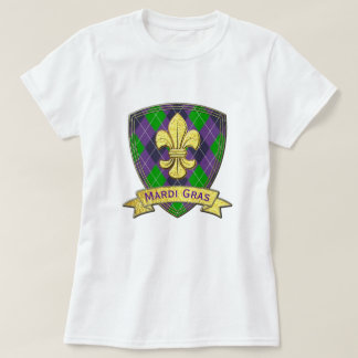 Mardi gras de motif de mardi gras t-shirt