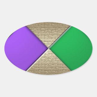 Mardi gras sticker ovale