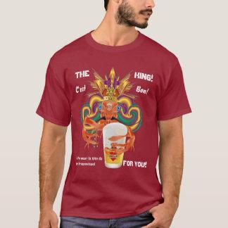 Mardi gras tous les signes foncés français de vue t-shirt