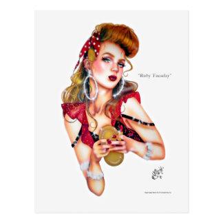 Mardi rouge par la carte postale d'Elizabeth