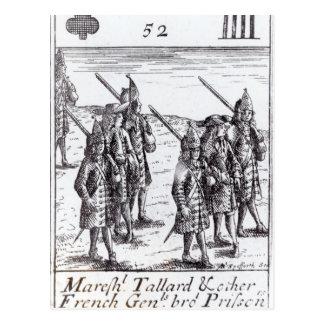 Maréchal Tallard et d'autres généraux français Carte Postale