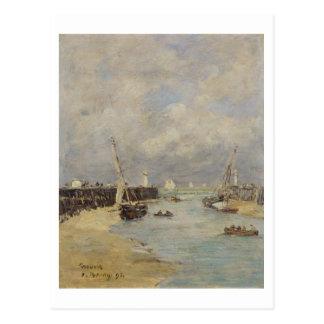 Marée basse chez Trouville, 1895 (huile sur le Carte Postale