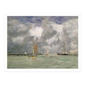 Marée haute chez Trouville, c.1892-96 (huile sur Carte Postale