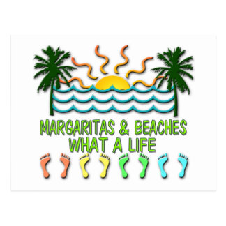 Margaritas et plages carte postale