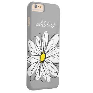Marguerite à la mode avec le gris et le jaune coque iPhone 6 plus barely there