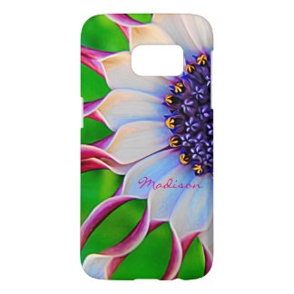 Marguerite africaine pourpre personnalisable coque samsung galaxy s7