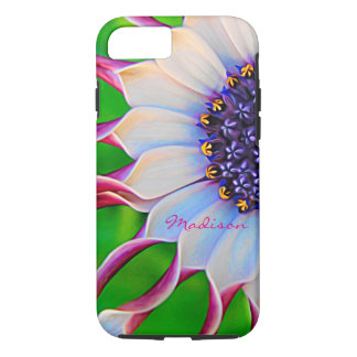 Marguerite africaine pourpre personnalisable dure coque iPhone 7