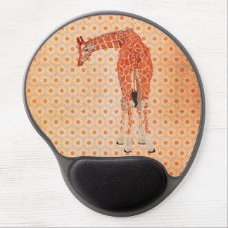 Marguerite ambre Mousepad de girafe Tapis De Souris Gel