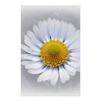 marguerite blanche brillante papier à lettre