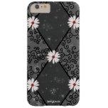 Marguerite blanche Girly à motifs de losanges de Coque Barely There iPhone 6 Plus