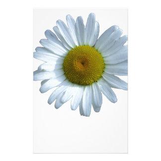 Marguerite blanche motifs pour papier à lettre