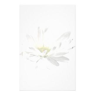 Marguerite blanche simple papier à lettre