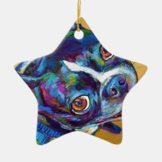 Marguerite Boston Terrier par Robert Phelps Ornement Étoile En Céramique