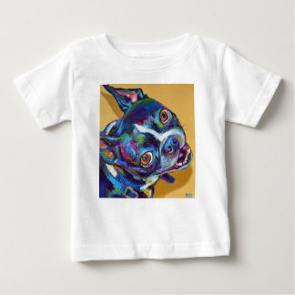 Marguerite Boston Terrier par Robert Phelps T-shirt Pour Bébé
