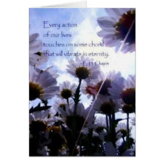 Marguerite de citation d'éternité florale cartes de vœux