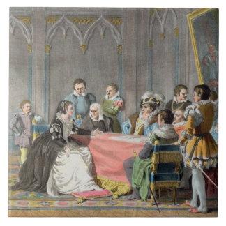 Marguerite de Valois (1553-1615) devant le S Grand Carreau Carré