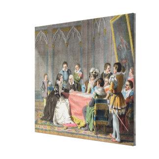 Marguerite de Valois (1553-1615) devant le S Impressions Sur Toile