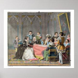 Marguerite de Valois (1553-1615) devant le S Posters