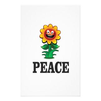 marguerite heureuse de paix papiers à lettres